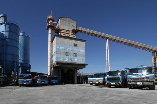 生コンクリート工場です。