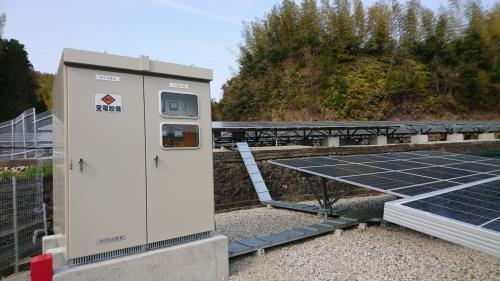 当社施工の太陽光発電設備です